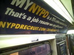 photopost stupid ads in new york politics as puppetry nypd s recruiting ad on the 1 train