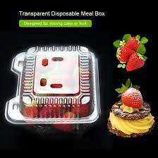 Greensen <b>50pcs Transparent Disposable</b> Meal Box <b>Set</b> for <b>Cake</b> ...