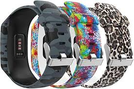 Adjustable <b>Silicone Replacement</b> Sport Strap <b>Wristband</b> For Fitbit ...