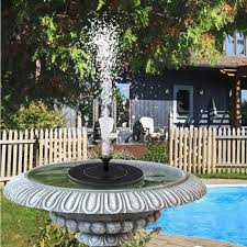 190L / H Floating <b>Solar Fountain Outdoor Pool</b> Water Feature ...