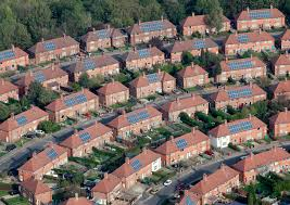 addressing environmental sustainability locally solar panels on a housing estate in nottingham city image source nottingham city