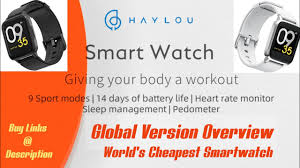 <b>Haylou</b> Smartwatch <b>Global Version</b> Overview Xiaomi LS01 - <b>Global</b> ...