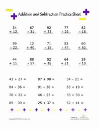 Addition and Subtraction Practice | Worksheet | Education.comSecond Grade Addition Subtraction Worksheets: Addition and Subtraction Practice