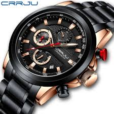 Mens Watch <b>Top Luxury Brand</b> CRRJU Watch <b>Fashion Sport</b> ...