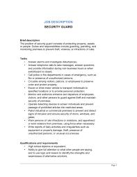 security guard job description   template  amp  sample form   biztree comsecurity guard job description