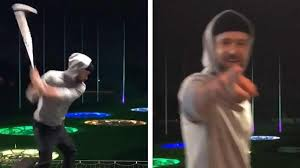Justin Timberlake Breaks Topgolf Rules With 'Happy Gilmore' Swing ...