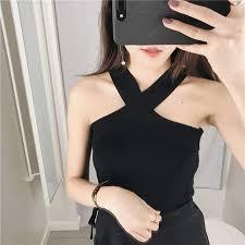 Online Shop 2018 <b>New</b> Ladies <b>Women Sexy</b> Knitted Cross Neck ...