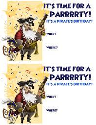 create a pirate birthday party pirate101 boochbeard invitation