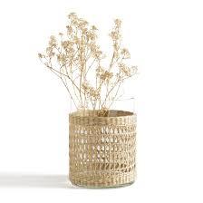 <b>Ваза</b> из стекла и плетения kézia натуральный <b>La Redoute</b> ...