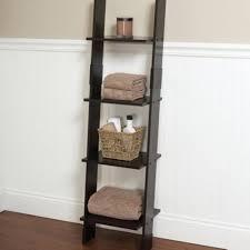 Bathroom Tower Storage Leaning Linen Tower Wood Bathroom Organizer Towel Storage Ladder