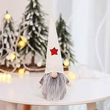 FENICAL Christmas Standing Faceless Doll <b>Nordic Style</b> Ornament ...