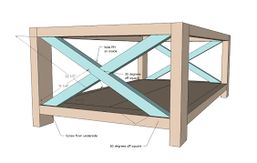 ana white rustic x coffee table diy projects build your own rustic furniture