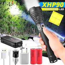 XHP90 Most <b>Powerful LED</b> Flashlight XLamp XHP70.2 <b>USB</b> ...