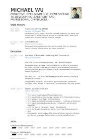 Customer Service Officer Resume Samples   VisualCV Resume Samples     VisualCV