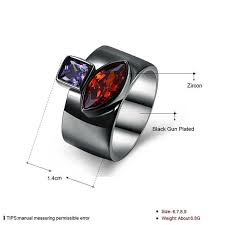 Online Shop <b>Ajojewel</b> Eco-friendly Copper Zircon Ring Special ...