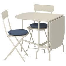 САЛЬТХОЛЬМЕН Садовый складной стол+2 стула, бежевый ...