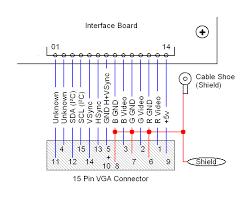 vga cable wiring diagram  vga connector wiring diagram   darren crissvga cable wiring diagram