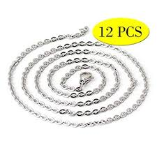 Wholesale 12 PCS Genuine <b>Stainless Steel</b> Fine Cable <b>Chain</b>