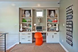wall unit desk kids contemporary with baseboards built in desk orange built in study furniture