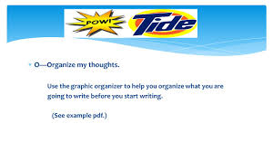pow tide is an acronym that can help you when you are writing a 4