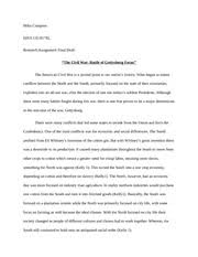 pages ROUGH DRAFT Civil War Essay Course Hero