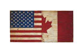home decor canadian flag cutting board half usa half canada wood flag sign united states of america usa flag