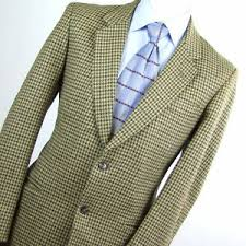 <b>Baronia</b> Mens Brown Houndstooth Wool Suit <b>Jacket</b> Size 42 | eBay