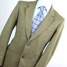 <b>Baronia</b> Mens Brown Houndstooth Wool Suit <b>Jacket</b> Size 42 | eBay