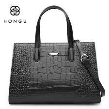 HONGU Ladies Alligator Real <b>Crocodile Pattern</b> Leather <b>Bags</b> ...