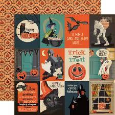 <b>HALLOWEEN</b> 3x4 JOURNALING CARDS - 12x12 <b>Patterned</b> ...