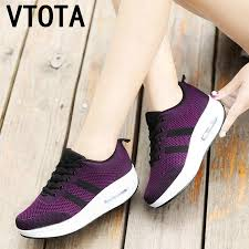 <b>VTOTA</b> Chunky Sneakers <b>Women Platform Wedges</b> Shoes Height ...