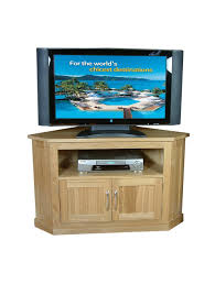 baumhaus mobel oak corner tv cabinet cor09c enlarged view baumhaus mobel solid oak