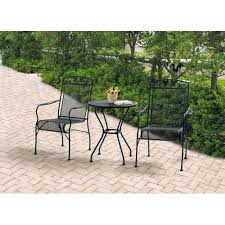wrought iron patio dining set color black wrought iron patio