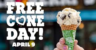 Ben & Jerry's Free Cone Day!!