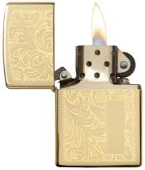 "<b>Зажигалка Zippo</b> ""<b>Venetian</b>"", цвет: золотистый, 3,6 х 1,2 х 5,6 см ..."