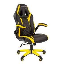 Купить <b>Кресло CHAIRMAN Game 15</b> черно/желтое - цена ...
