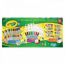 Гигантский набор фломастеров <b>Crayola</b> c <b>трафаретами</b>