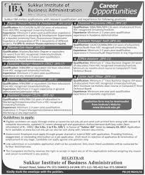 sukkur institute of business administration sukkur jobs on  sukkur institute of business administration sukkur jobs