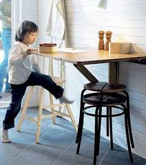 table for kitchen: folding kitchen tables small spaces photo