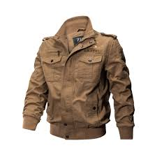 <b>Military Jacket Men Spring</b> Autumn Cotton Pilot Jacket Coat Army ...