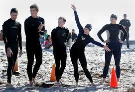 prospective lifeguards swim for job the san diego union tribune