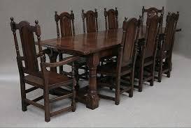 antique style oak dining