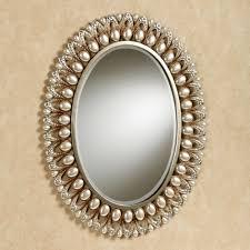 mirror wall decor circle panel: julietta pearl oval wall mirror u  julietta pearl oval wall mirror