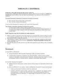 unfair dismissal oxbridge notes the united kingdom wrongful dismissal