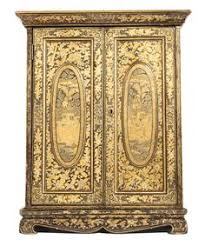 a diminutive chinese export parcel gilt black lacquer collectors cabinet on standcirca 1830 lot antique english country armoire circa 1830s