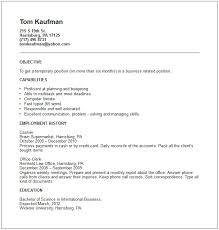 work resume example  limited work experience examples for resume    temporary work resume examples