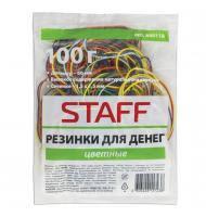 <b>Резинки для денег STAFF</b>, 100 г, цветные, натуральный каучук ...