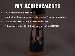 my achievements by arnab saha my achievements
