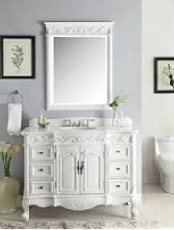 traditional style antique white bathroom: quot antique white marble beckham bathroom sink vanity amp mirror