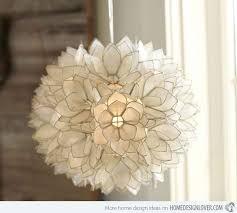 capiz petal flower pendant capiz lighting fixtures